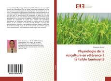 Buchcover von Physiologie de la riziculture en référence à la faible luminosité