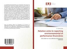 Portada del libro de Relation entre le reporting environnemental et performance financières