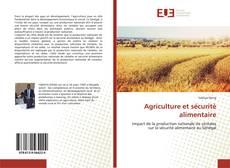 Couverture de Agriculture et sécurité alimentaire