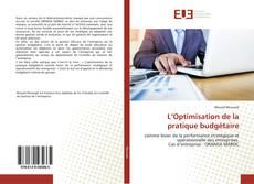 Couverture de L'Optimisation de la pratique budgétaire