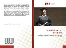 Buchcover von Faut-il obtenir un doctorat?