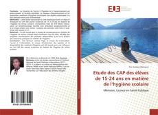 Обложка Etude des CAP des élèves de 15-24 ans en matière de l'hygiène scolaire