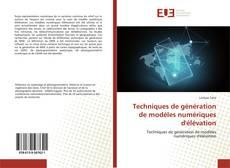 Borítókép a  Techniques de génération de modèles numériques d'élévation - hoz