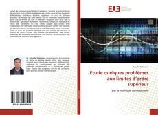 Buchcover von Etude quelques problèmes aux limites d'ordre supérieur