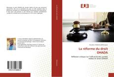 La réforme du droit OHADA kitap kapağı