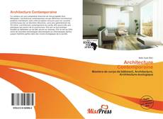 Architecture Contemporaine kitap kapağı