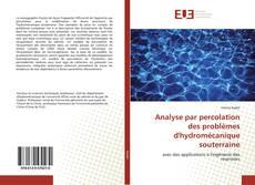 Couverture de Analyse par percolation des problèmes d'hydromécanique souterraine