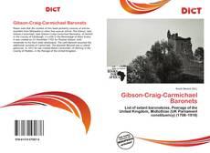 Couverture de Gibson-Craig-Carmichael Baronets