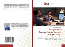 Couverture de Analyse de la Communication Interne: Cas de l'IPHEC