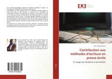 Contribution aux méthodes d'écriture en presse écrite kitap kapağı