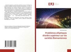 Copertina di Problèmes elliptiques d'ordre supérieur sur les variétés Riemaniennes
