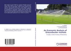 Portada del libro de An Economic Analysis of Groundwater markets