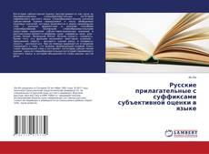 Buchcover von Русские прилагательные с суффиксами субъективной оценки в языке
