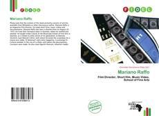 Capa do livro de Mariano Raffo
