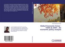 Buchcover von Global Economic Crises - 1930s & 2007 - An economic policy analysis