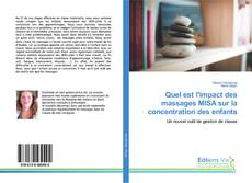 Bookcover of Quel est l'impact des massages MISA sur la concentration des enfants