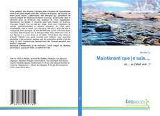 Bookcover of Maintenant que je sais....