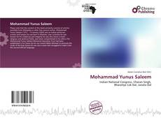 Bookcover of Mohammad Yunus Saleem