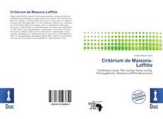 Couverture de Critérium de Maisons-Laffitte