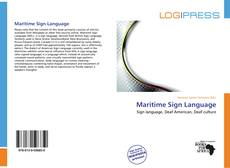 Bookcover of Maritime Sign Language