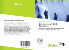 Directorate of Civil Resistance的封面