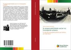 Buchcover von A responsabilidade social no transporte urbano