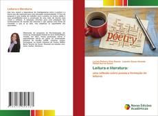 Leitura e literatura: kitap kapağı