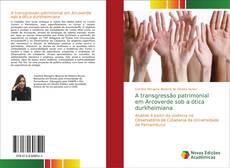Capa do livro de A transgressão patrimonial em Arcoverde sob a ótica durkheimiana