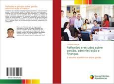 Capa do livro de Reflexões e estudos sobre gestão, administração e finanças