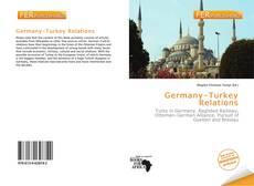 Capa do livro de Germany–Turkey Relations