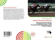 Capa do livro de Italian Flat Horse Races