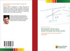Capa do livro de Dualidade linear para determinação de preço justo