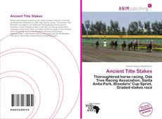 Bookcover of Ancient Title Stakes