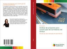Capa do livro de Análise de proposta para construção de corredores de ônibus
