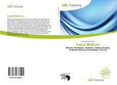 Buchcover von Ingrid Mattson