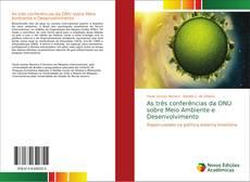 Capa do livro de As três conferências da ONU sobre Meio Ambiente e Desenvolvimento