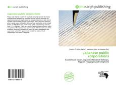Bookcover of Japanese public corporations