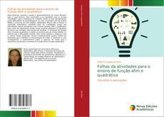 Bookcover of Folhas da atividades para o ensino de função afim e quadrática