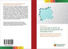 Capa do livro de Contribuição à crítica da formação de professores de Educação Física: