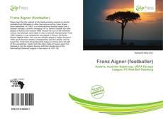 Capa do livro de Franz Aigner (footballer)