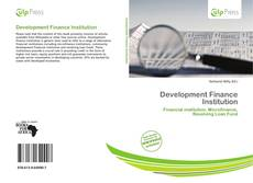 Bookcover of Development Finance Institution
