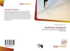 Buchcover von Certificate of Deposit