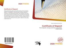 Bookcover of Certificate of Deposit