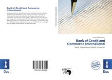 Bookcover of Bank of Credit and Commerce International
