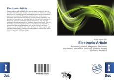 Couverture de Electronic Article