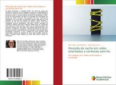 Capa do livro de Poluição de cache em redes orientadas a conteúdo sem-fio
