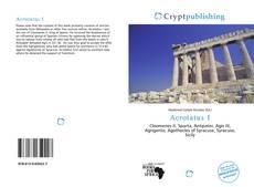 Bookcover of Acrotatus I