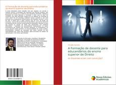 Capa do livro de A Formação de docente para educandários do ensino superior de Direito