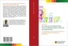 Capa do livro de Do Cálculo à Análise Real: uma avaliação sobre o ensino de sequências