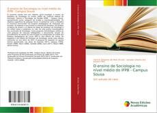 Copertina di O ensino de Sociologia no nível médio do IFPB - Campus Sousa